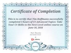 C# advanced course completed