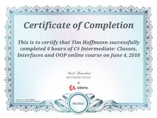 C# intermediate course completed