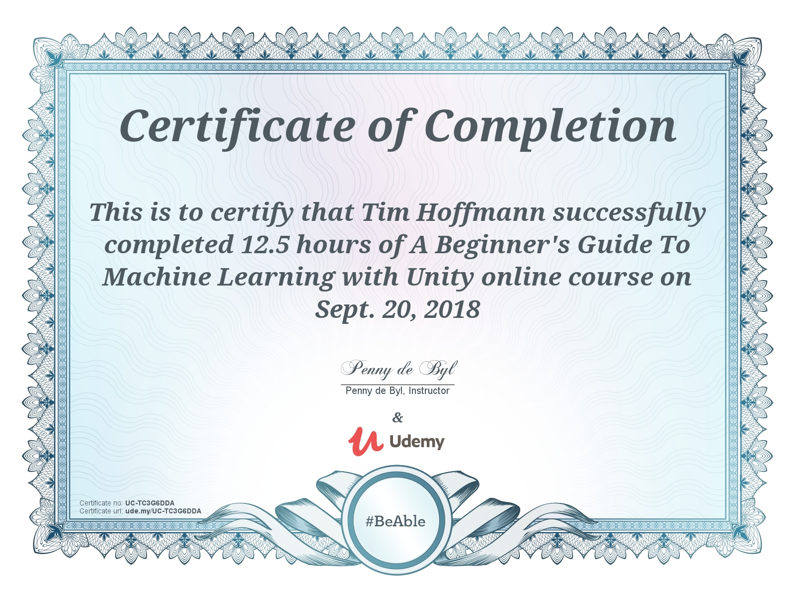 Unity Machine Learning Course Completed